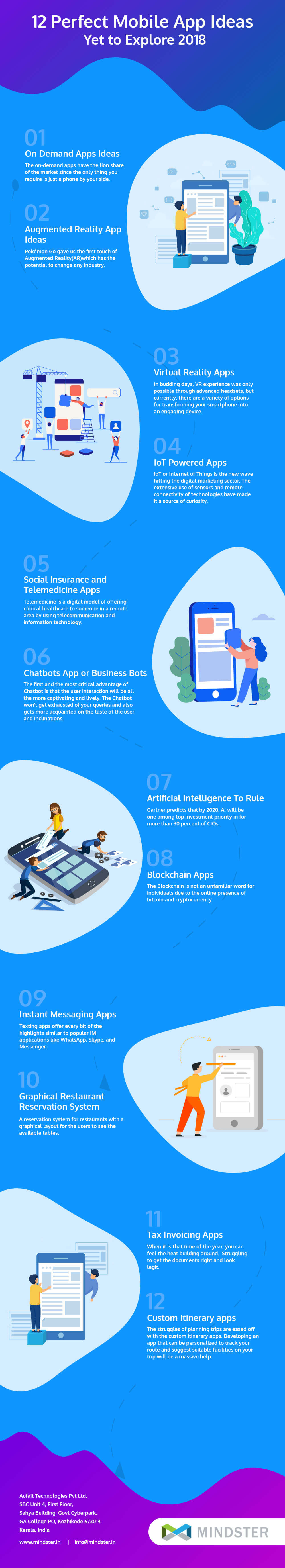 12 Creative New Mobile App Ideas in 2019 [Infographic]