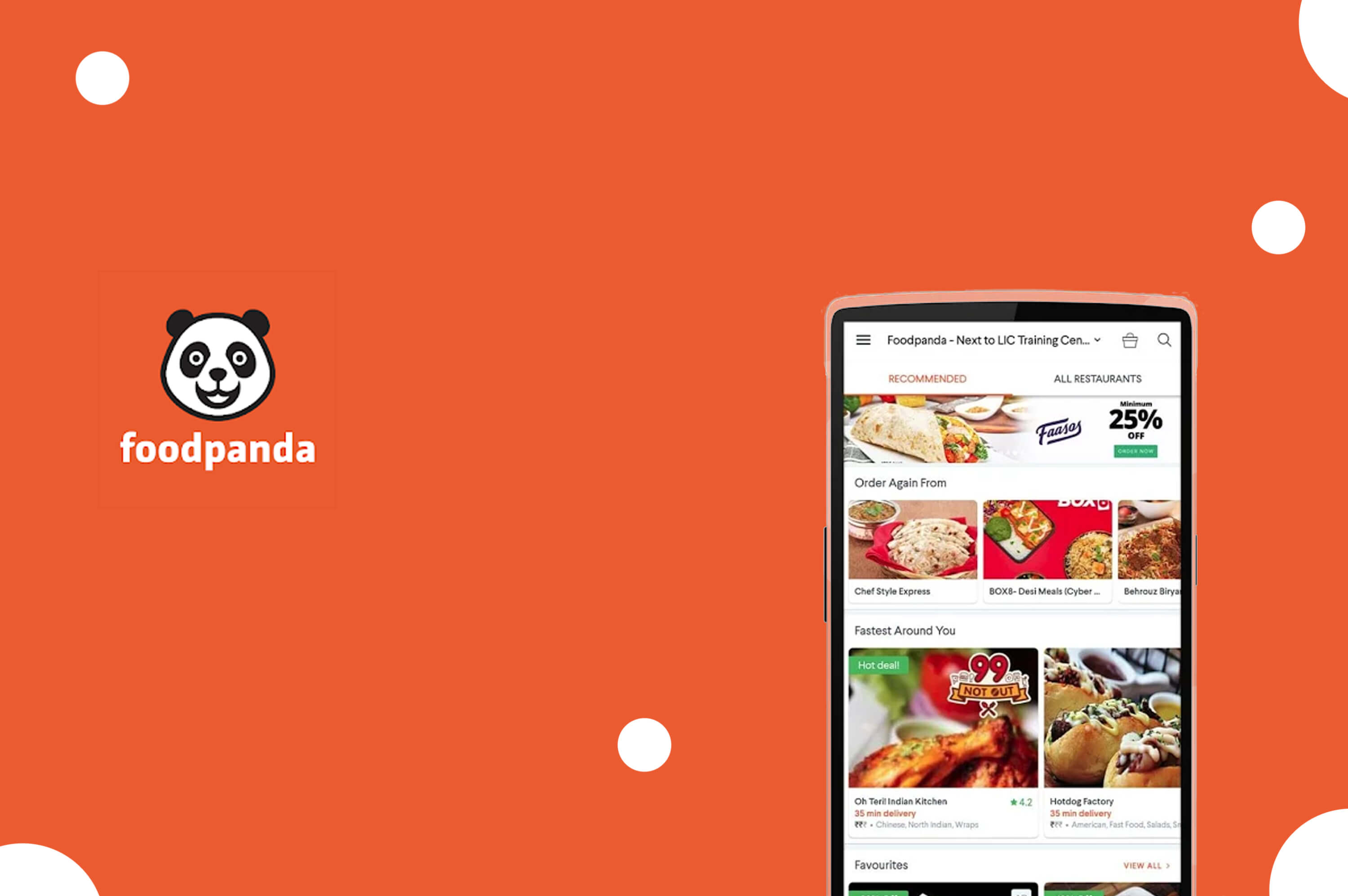 a smartphone with foodpanda app opened in its screen